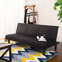 Harper Bright Design Convertible Sofa Bed Futon Sofa Couch Bed (Black)
