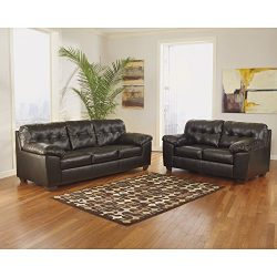 Signature Design by Ashley Alliston Living Room Set in Chocolate DuraBlend