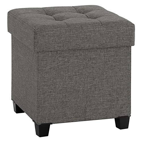 Songmics Collapsible Cube Storage Ottoman Foot Stool