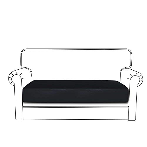 Easy-Going PU Leather Sofa Cushion Cover Sofa Seat Slipcover Sofa Cover Waterproof with Elastic  ...