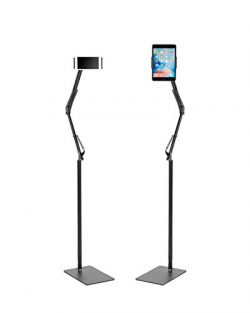 Kufox Long Arm Floor Stand For Smartphone and Tablet, 360 Degree Adjustable Floor Stand Holder F ...