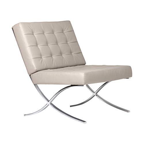 Studio Designs Home Modern Atrium Accent Chair Lounge Chair for Living Room, Bedroom, Bonded Lea ...