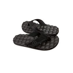 Volcom Men's Recliner Sandal, Black Destructor, 9 C/D US