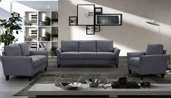 Harper&Bright Designs Living Room Sets Furniture Armrest Sofa Single Chair Sofa Loveseat Cha ...