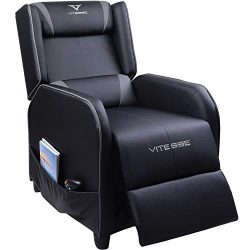 Vitesse Gaming Recliner Chair Racing Style Single Ergonomic Lounge Sofa Modern PU Leather Reclin ...