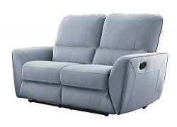 Homelegance Dowling 63″ Fabric Upholstered Reclining Loveseat, Gray