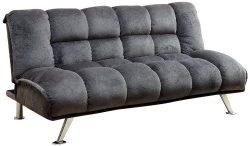 Furniture of America IDF-2904GY Lennie Champion Convertible Sofa, Gray