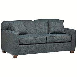 Stone & Beam Fischer Full-Sized Sleeper Sofa, 72″W, Blue Fabric