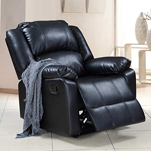 P PURLOVE Recliner Chair Padded Seat PU Leather Living Room Sofa Lift Chair for Home Theater Sea ...