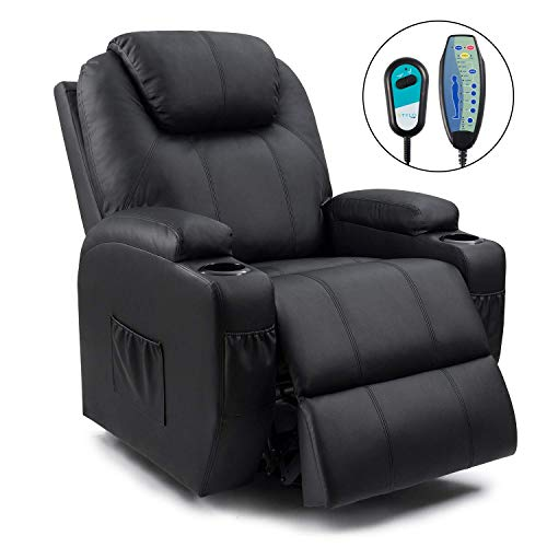 Homall T-LR84LMP0 Power Lift Recliner Chair with Massage Single Living Room Huge Thick Padded He ...