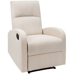 Devoko Adjustable Recliner Single Chair Fabric Modern Living Room Chair Padded Cushion Ergonomic ...