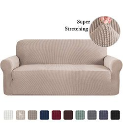 Sofa Slip Cover for Leather Couch Covers for 3 Cushion Couch Lounge Cover Kids Sofa Covers Stret ...