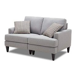 CHITA Sofa and Loveseat, Modern Fabric Modular Couch for Living Room, Grey -【Left Seat ONLY】