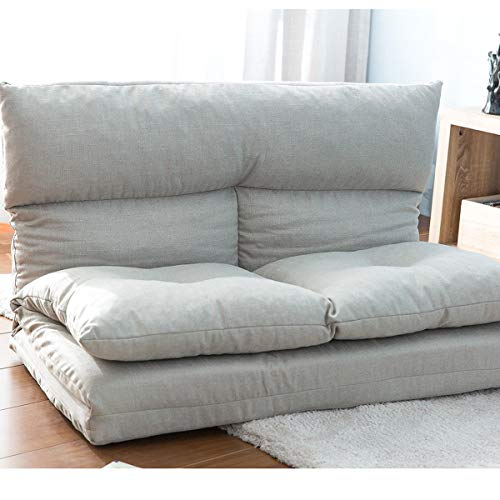 Adjustable Floor Couch and Sofa for Living Room and Bedroom, Foldable with 5 Reclining Position, ...