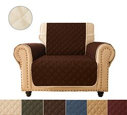 Ameritex Sofa Cover, Reversible Quilted Furniture Protector, Ideal Loveseat Slipcovers for Pets  ...