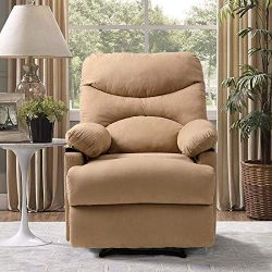 Vosson Chair Ergonomic Lounge Chair Heated Massage Recliner Chair Microfiber Electric Heated Rec ...