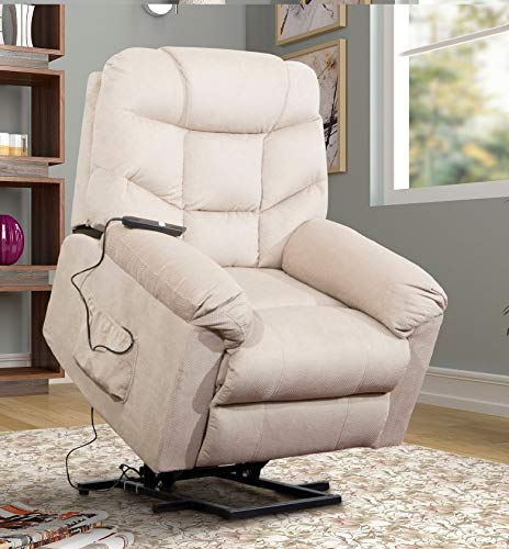 Power Lift Chair Recliner for Elderly Living Room Chair with Remote Control (Beige)