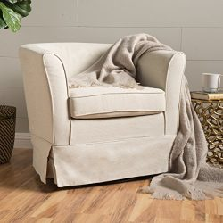 Christopher Knight Home 298869 Cecilia Swivel Chair Natural