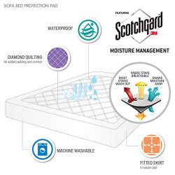 Holden Waterproof Sofa Bed Mattress Protection Pad with 3M Scotchgard Moisture Management – ...