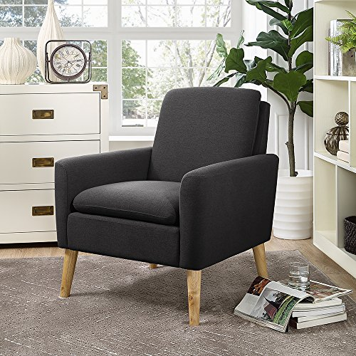 Lohoms Modern Accent Fabric Chair Single Sofa Comfy Upholstered Arm Chair Living Room Furniture  ...