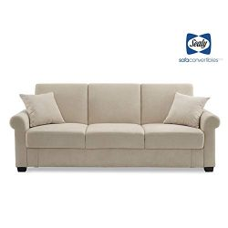 Sealy St Anne Transitional Convertible Sofa with Storage in Beige