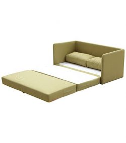 US Pride Furniture Kathy Reversible 5.1″ Foam Fabric Loveseat and Sofa Bed Couch Sleeper,  ...