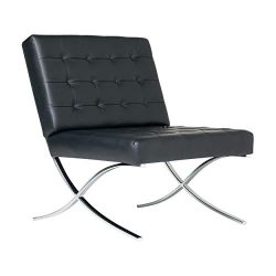 Studio Designs Home Modern Atrium Accent Chair Lounge Chair for Living Room Bedroom, Bonded Leat ...