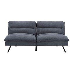Sofas 2 Go SI-CA-MAN-HG-32 Manhattan  Convertible Sofa  One Size  Charcoal