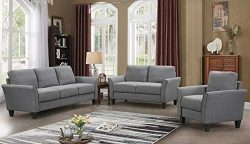 Harper&Bright Designs Living Room Sets Living Room Furniture Sofa 3 Piece Sofa Loveseat Chai ...