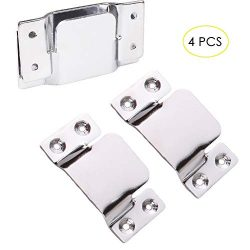 Flush Mount Bracket, Tiberham 4 Pcs Stainless Steel Sectional Sofa Interlocking Clip Furniture C ...
