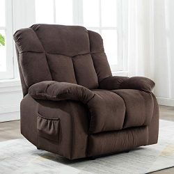 ANJ Power Lift Chair Recliner – Antiskid Fabric Living Room Chair with Overstuffed Design  ...