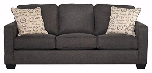 Ashley Furniture Signature Design – Alenya Sofa with 2 Throw Pillows – Microfiber Up ...