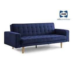 Sealy Tilbury Contemporary Convertible Sofa in Blue