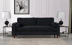 Housel Living HSL237-VV-3S Sofa, Black