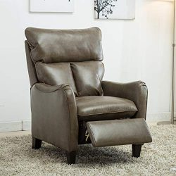 Mecor Leather Recliner Chair,Manual Reclining Pushback recliners Living Room Single Sofa Chair w ...