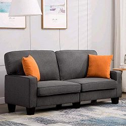 Mecor Loveseat Sofa Couch Fabric Loveseat Couch Classic Modern Sofa 68 Inch Living Room Furnitur ...