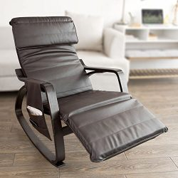 Haotian Comfortable Relax Rocking Chair with Foot Rest Design, Lounge Chair, Recliners Removable ...