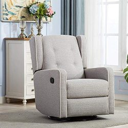 CANMOV Swivel Rocker Recliner Chair – Manual Reclining Chair, Single Seat Reclining Chair, ...