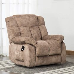 ANJ Power Lift Chair Recliner – Antiskid Fabric Living Room Chair with Overstuffed Design, ...