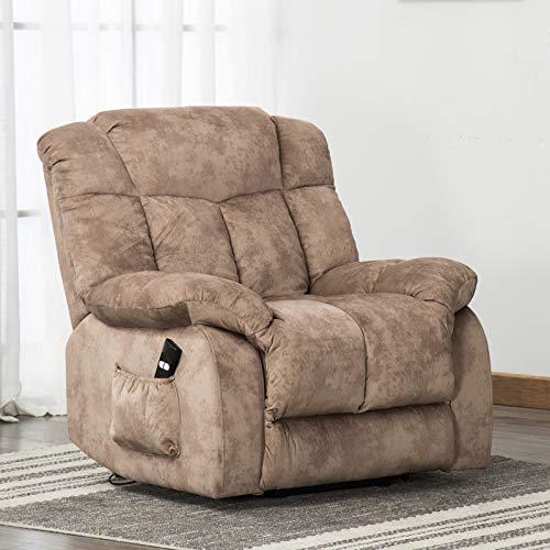 ANJ Power Lift Chair Recliner – Antiskid Fabric Living Room Chair with Overstuffed Design, ...