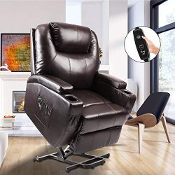 Power Lift Recliner, Fitnessclub, Electric Massage Recliner Sofa Full Body, Zero Gravity, Leathe ...