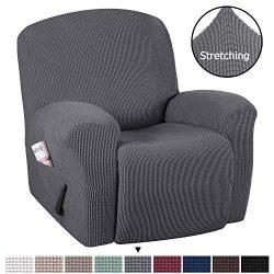 H.VERSAILTEX Stretch Recliner Slipcovers 1-Piece Durable Soft High Stretch Jacquard Sofa Furnitu ...
