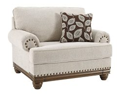 Ashley Furniture Signature Design – Harleson Traditional Chair and a Half – Oversize ...