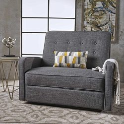 Christopher Knight Home 301528 Callade Reclining Loveseat, Grey