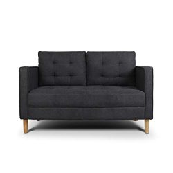 AODAILIHB Modern Soft Cloth Tufted Cushion Loveseat Sofa Small Space Configurable Couch (Dark Grey)