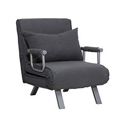 Quelife Convertible Sofa Bed Folding Arm Chair Sleeper,Single Sleeper Convertible Chair Folding  ...