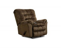 Simmons Upholstery U678-191 Carmen Umber Rocker Recliner W/Heat and Massage, Brown