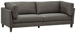 Rivet Midtown Mid-Century Modern Upholstered Sectional Sofa Couch, 92.1″W, Charcoal