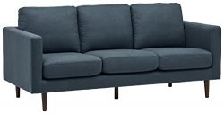 Rivet Revolve Mid-Century Modern Sectional Sofa Couch, 80″W, Denim