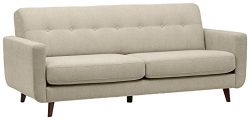 Rivet Sloane Mid-Century Modern Tufted Sectional Sofa Couch, 79.9″W, Shell